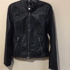 Black leather jacket size medium Express
